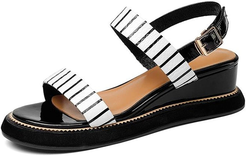 DALL Pumps Streifenmuster Damenschuhe Flache Schuhe High Heels Hausschuhe Sandalen Verschleifest (Farbe   Wei, Gre   EU 38 UK5.5 CN38)