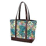 NaiiaN Bolso de compras, azulejos de mosaico marroquíes dorados, versión de hojas de palma, bolsos de hombro, bolsos de mano, bolso de mano, correa liviana para madres, mujeres, niñas, estudiantes