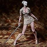 YLHJY Figura de acción de Enfermera sin Rostro, Estatua de Personaje de Anime de Silent Hill, Adornos de Modelo móvil para Enfermeras de Cabeza burbujeante, 15 cm