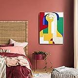 Moderne abstrakte Charakter Familie Leinwand Malerei
