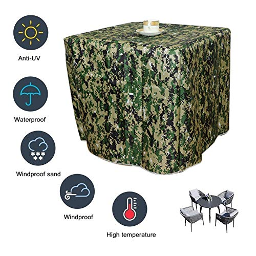 ZWYGXL Garden Furniture Cover Customizable Waterproof Sunscreen Garden Table Outdoor Patio Sets, 2 Colors, 28 Sizes (Color : A, Size : 1x1x1.4m)