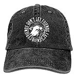 Gorra de béisbol Onled negra divertida vegetariana vegana de algodón lavado vintage ajustable sombrero de papá
