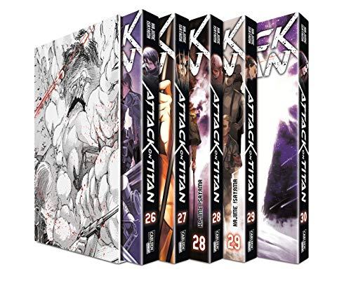 Attack on Titan, Bände 26-30 im Sammelschuber mit Extra: Atemberaubende Fantasy-Action im Kampf gegen grauenhafte Titanen