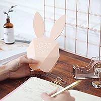 GAOLILI クリエイティブなかわいい目覚まし時計充電式ナイトライトデジタルミュート目覚まし時計リビングルームパーソナリティ小さな時計 (色 : B)