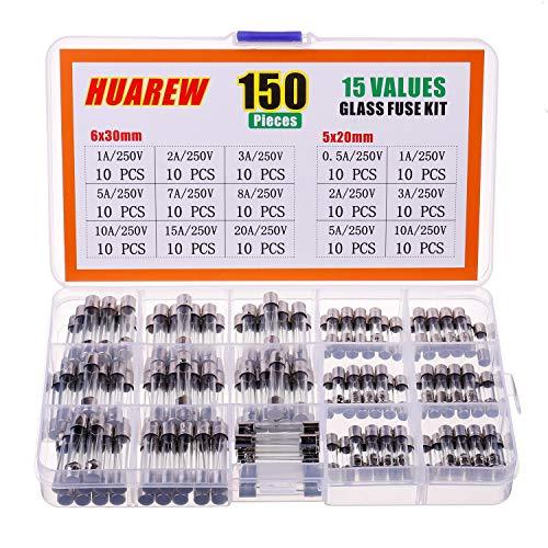 100pcs Schaltungen Glassicherung 0.2A 0.5A 1A 2A-3A-5A 6A 8A 10A 15A