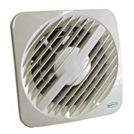 Greenwood Airvac AXS100TR Toilet/Bathroom Extractor Fan with Run on Timer, White, 4 inch