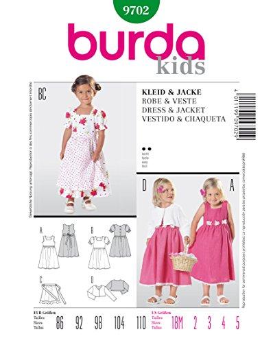 Burda 9702 Schnittmuster Kleid & Jacke (kids, Gr, 86 - 110) Level 2 leicht