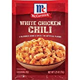 McCormick White Chicken Chili Seasoning Mix, 1.25 oz (Pack of 12)