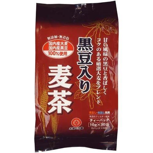 お茶の丸幸 国産原料使用 黒豆入麦茶 ティーバッグ 10gX30