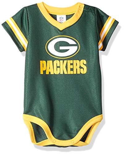 NFL Green Bay Packers Baby-Boy Dazzle Bodysuit, Team Color, 0-3 Months (138781160PKR03M-308)
