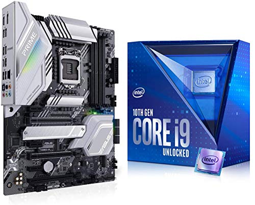 Micro Center Intel Core i9-10900K Desktop Processor 10 Cores up to 5.3 GHz Unlocked LGA1200 (Intel 400 Series chipset) 125W Bundle with ASUS Prime Z490-A ATX Motherboard DDR4 Dual M.2 USB3.2 Type-C