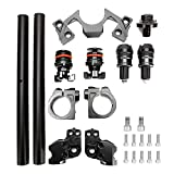 YUN Ajustadores De Clip De Manillar Ajustables De La Motocicleta Ajustes De Horquilla para Kawasaki Ninja 250 300 Negro