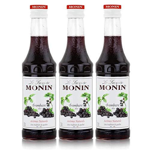 Monin Sirup Brombeere, 0,25 L 3er Pack