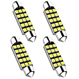 """42MM Festoon LED Extremely Bright 578 211-2 LED Bulbs 480 Lumens 2835 Chipset Canbus Error Free Interior Car Lights License Plate Dome Trunk Courtesy 1.64"""" 41MM 42MM 211-2 569 578 6000K Xenon White 4"""