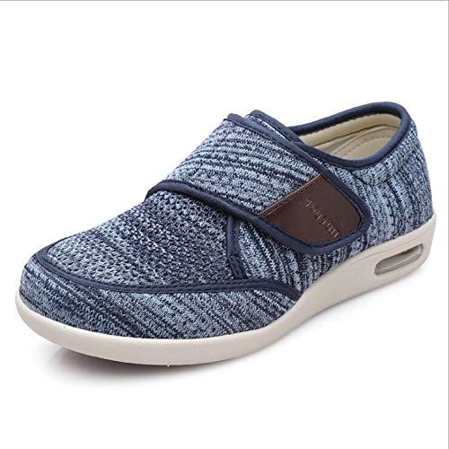 Hombres Mujeres hinchados pies caminando zapatos, zapatillas ajustable de velcro ortopédica, edema zapatos de las señoras extra ancho ortopédicos Confort sandalias de edad avanzada for Unisex Tamaño