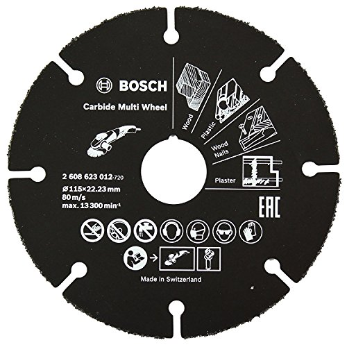 Bosch 2608623012 – Disco universale in carburo per smerigliatrice, 115 mm