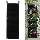 ZXLIADLY 6 Pocket Hanging Vertical Garden Planter Indoor Outdoor Herb Pot Decor Bring