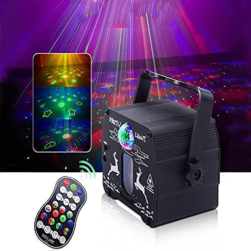 Luz de proyector de estrellas, luces de proyección LED con control remoto, luz decorativa de proyección de cielo estrellado para automóvil, espectáculo de estrellas rojas y verdes