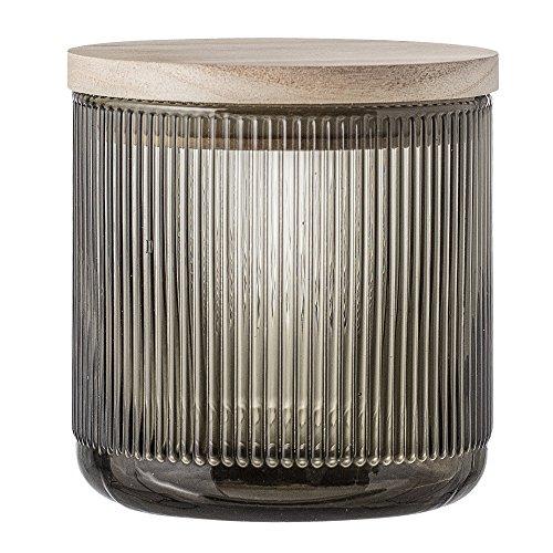 Bloomingville Dose mit Holzdeckel und Aromaverschluss, grau