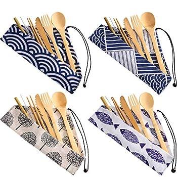 Best bamboo travel utensil set Reviews