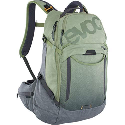 Evoc Trail Pro 26 - Bolsa para Bicicleta de montaña, Unisex, Color Verde Oliva y Gris