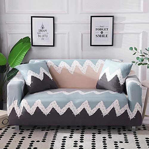 NOBCE Funda de sofá elástica seccional elástica para Sala de Estar Funda de sofá en Forma de L Funda de sillón de Esquina 1/2/3/4 plazas 145-185CM