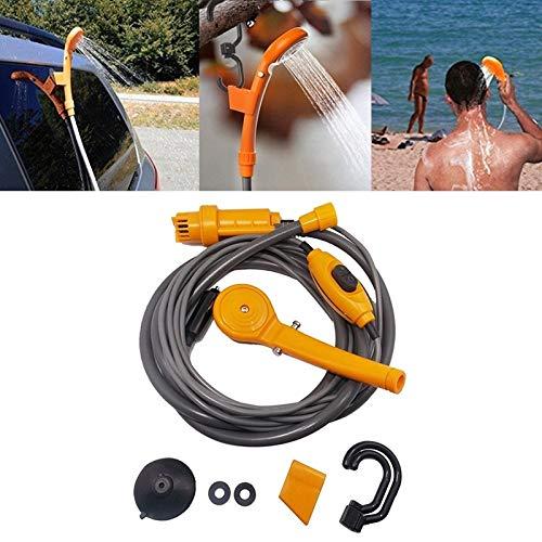 Lavado de coches Peishi 12V portátil Ducha al aire libre del coche eléctrico de riego Lavadora (naranja) disponible (Color : Yellow)