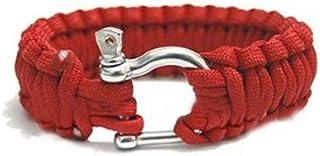 CUHAWUDBA R Bracelet de Survie avec U Boucle Corde de Parachute Paracord exterieure Urgence Evasion Rapidement Camo Gris