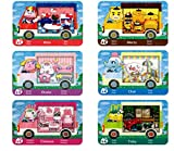 6 unidades Animal Crossing New Horizons ACNH Amiibo Sanrio Mini Tarjeta RV Villager Muebles Compatible con Switch/Switch Lite/New 3DS