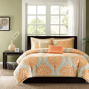 Intelligent Design Senna Comforter Set, Full/ Queen, Orange