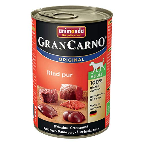 Animonda Gran Carno Hundefutter Adult Rind pur, 6er Pack (6 x 400 g)