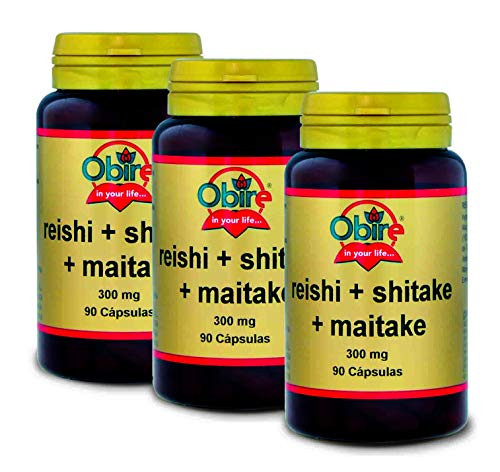 OBIRE - REISHI + SHITAKE + MAITAKE 90 CAPSULE (Confezione 3 u.)