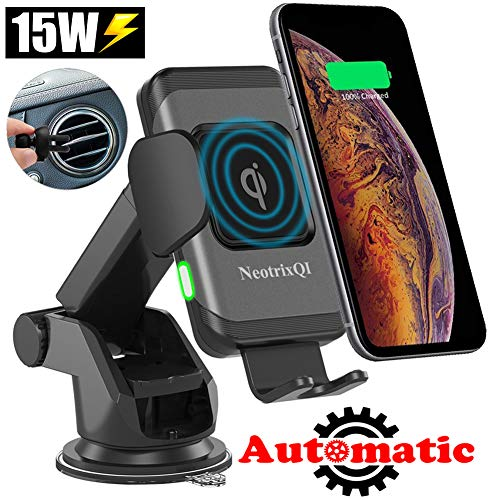 Lenture Wireless Charging Car Mount for Galaxy Cell Phone