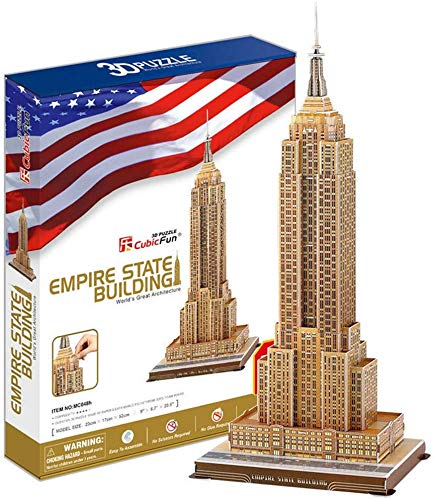 LXDDP Puzzle 3D Empire State Building Model Building Kit Craft Toy Gift for Kids