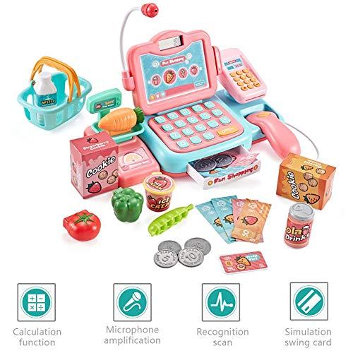 Sue-Supply Smart Cash Register doen alsof spelen speelgoed met rekenmachine, scanner, geld, kredietkaart en realistische actie en klinkt educatief speelgoed