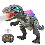 Wishtime dinosaurio de control remoto electric mando a distancia velociraptor blue dinosaurio con luz y rugido realista juguetes niños 3 4 5 años