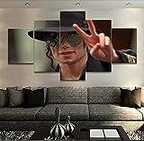 Unbekannt 5 Panel Musik Michael Jackson Poster Wandkunst