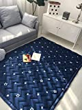 Zinsale Groß Verdicken Rutschfest Baby Krabbeldecken Baumwolle Spielmatte Kriechende Matte Waschbar Kinder Krabbelmatte Gamepad Kinderzimmer Teppich (Metor)