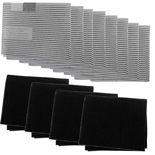 Spares2go - Kit de filtro de grasa para campana extractora de cocina Whirlpool (8 grasas, 4 filtros de carbono)