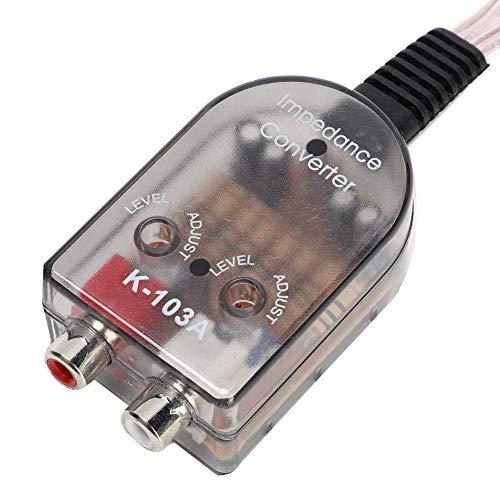 Salida de encendido remoto Stero para automóvil Cable de altavoz ajustable Convertidor de impedancia de audio de línea alta a baja con convertidor de salida de línea