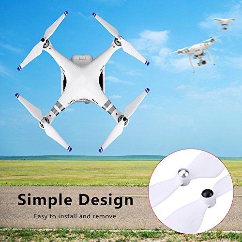 2 Paar RC Drohne Propellerblätter, CW CCW Selbstsichernde Propeller Blades für DJI Phantom2 / 3 E300(Weiß + Blau)
