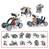 CUDNY Robot Kit 12-in-1 Science STEM Solar Robot Kit Toys for Kids - 190 Pieces DIY Building Science Experiment Kit for Kids Aged 8-10 and Older, Educational DIY Assembly Kit with Solar Powered