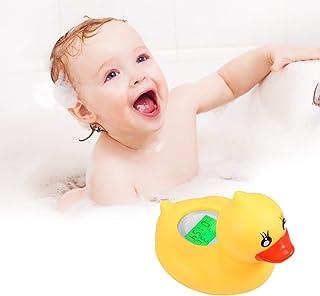 Konesky Termómetro De Baño Para Bebés, Ip67 Termómetro De Temperatura De Agua De Baño a Prueba De Agua Juguete De Pato Amarillo Con Alarma De Advertencia Led