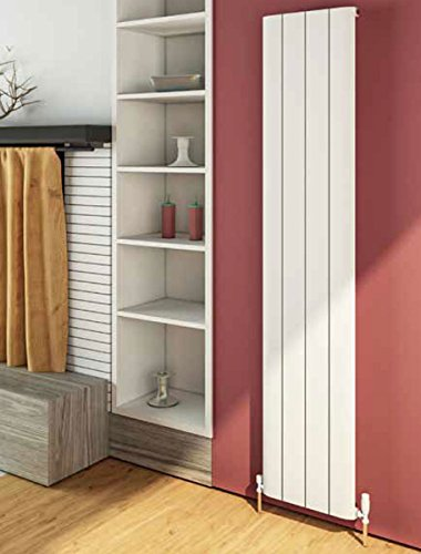Eastbrook Peretti - Radiador vertical de aluminio (1800 x 280 mm), color blanco mate