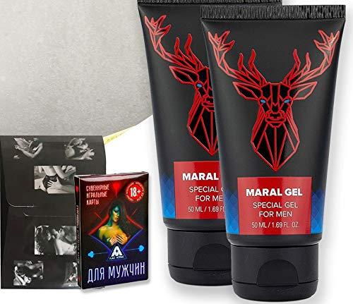 Maral gel 2x50 ml Gel Maral 2 x 50 ml confezione speciale per i migliori risultati con carte da gioco erotiche russe gratuite e preservativi gratuiti Made in Russia confezione speciale