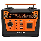 AIMTOM 300-Watt Portable Power Station - 280Wh Battery Powered Generator Alternative with 12V, 24V,...