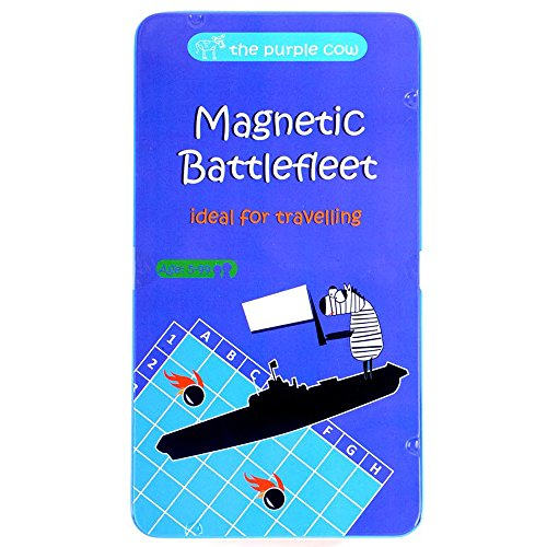 The Purple Cow- Battlefleet Game- Magnetic Travel Game for Kids and Adults....