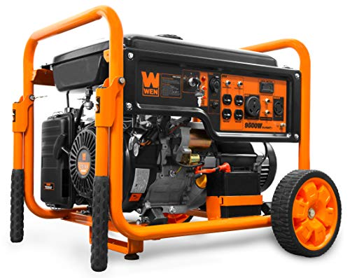 WEN GN9500 420cc Transfer Switch and RV Ready 120V 240V 9500-Watt Portable Generator w Remote Electric Start, CARB Compliant, Black