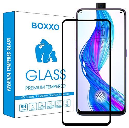 Boxxo Screen Protector for Oppo Reno 10x Zoom [Tempered Glass Guard with Edge to Edge Protection] [Gorilla] [Full Coverage] Easy Installation [Anti FingerPrint] - Black
