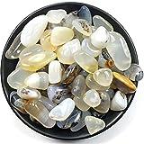 HOULAI 100 gramos de cristal de rubí irregular natural de ágata triturada plantada para acuario, decoración de peces, materiales de bricolaje